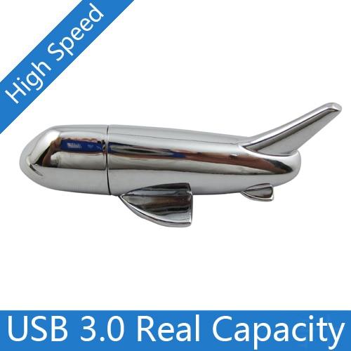Genuine 16GB 32GB 64GB Usb 3.0 Pendrive 128GB Usb Flash Drives 512GB Memory Card Stick Disk On Key Metal Plane Aircraft Gift