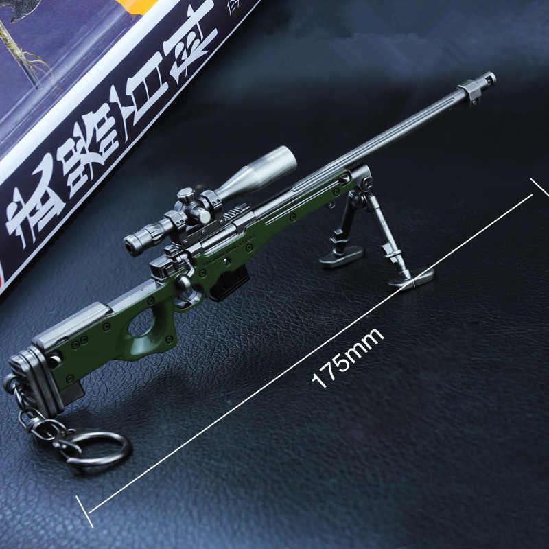[Новинка] Второй мировой войны 17,5 см модель оружия 1/6 масштаб винтовка снайперская модель оружия игрушки PUBG awm пистолет сплав модель мужская игра подарочная упаковка подарок