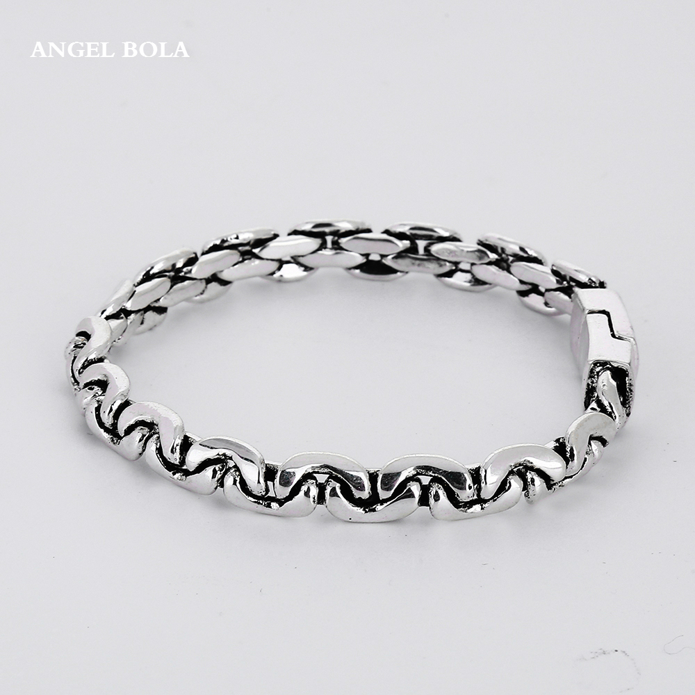 Ancient Silver Motorcycle Bracelet Buddha Bracelet Jewelry Punk European Style Bangle Top Quality Motor Bike Chain B1207-9Y