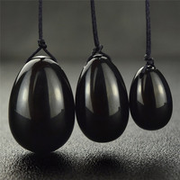 3pcs Natural Black Obsidian Yoni Egg For Kegel Exercise Health Care Pelvic Floor Muscles Vaginal Exercise
