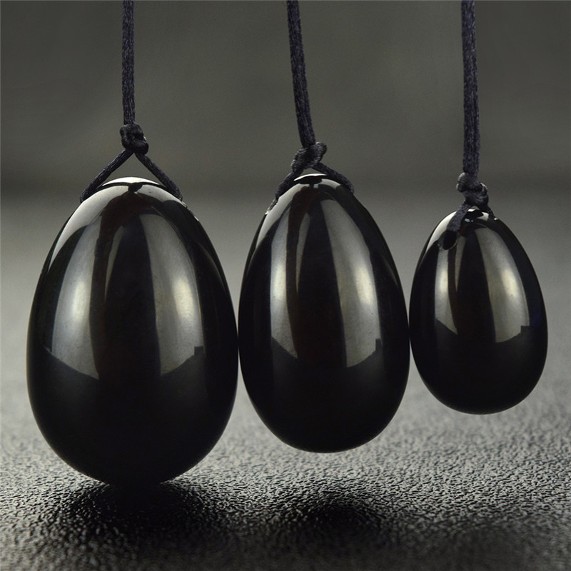 3pcs Natural Black Obsidian Yoni Egg jade egg crystal for Kegel Exercise Health Care Pelvic Floor Muscles Vaginal Exercise 3pcs natural black obsidian yoni egg jade egg crystal for kegel exercise health care pelvic floor muscles vaginal exercise