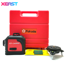 Fukuda Green or Red 3D laser level meter 12 Lines 360 degree Vertical Cross Super Powerful With oblique line