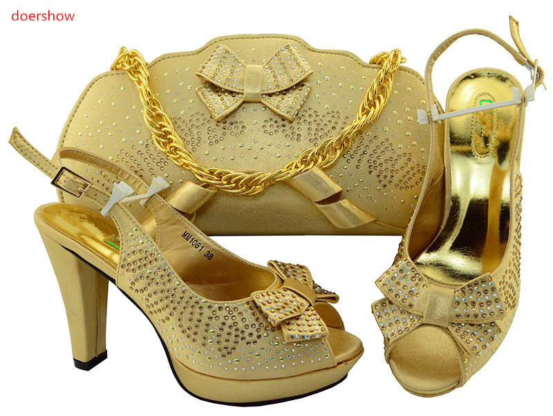 doershow African Shoes and Bag To Match High Quality Italian Shoe and Bag Set Nigerian Party Shoe and Bag Set Wedding!IU1-21 capputine african style shoes and bag to match high quality italian shoes and bag set nigerian party shoe and bag set wedding