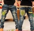 2015 Новые Весна Осень детская одежда мальчики джинсы мода стиль хорошее качество низкая цена мягкий материал B088