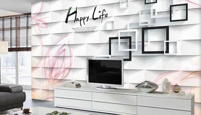 2018 Neue Luxus 3d Rosa Aquarell Blumen Tapeten 3D Wandbilder  Hintergrundbild Für Wohnzimmer Schlafzimmer TV Hintergrund