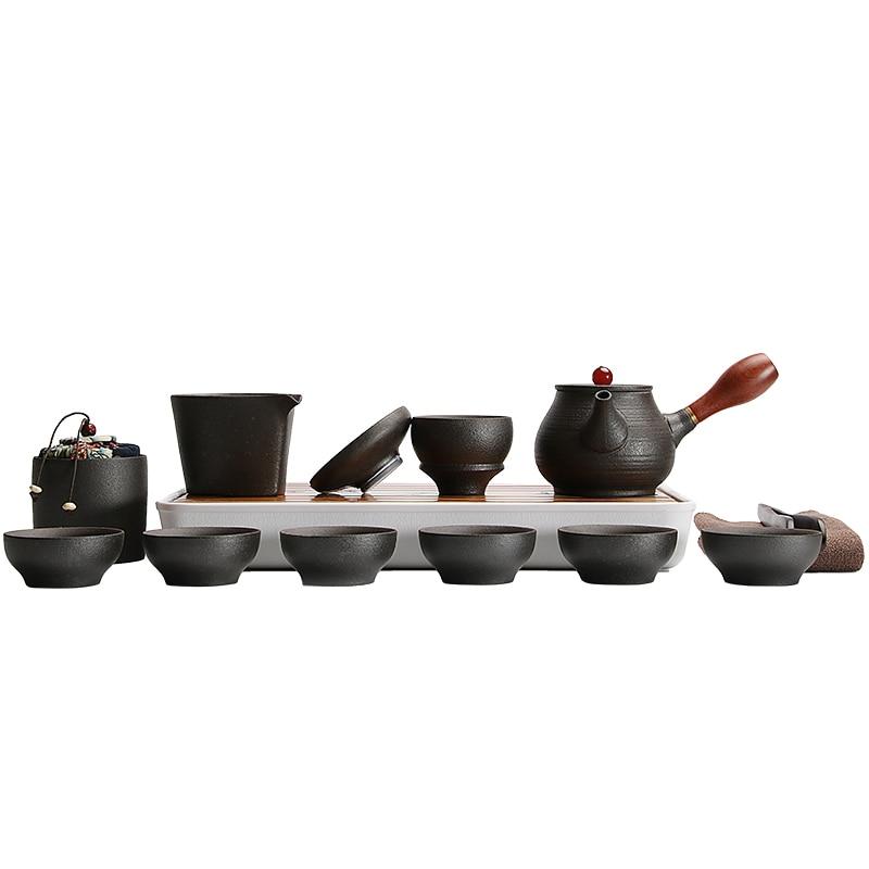 TANGPIN black crockery japanese ceramic teapot kettle tea cup for puer tea pot set japanese tea set porcelain 1