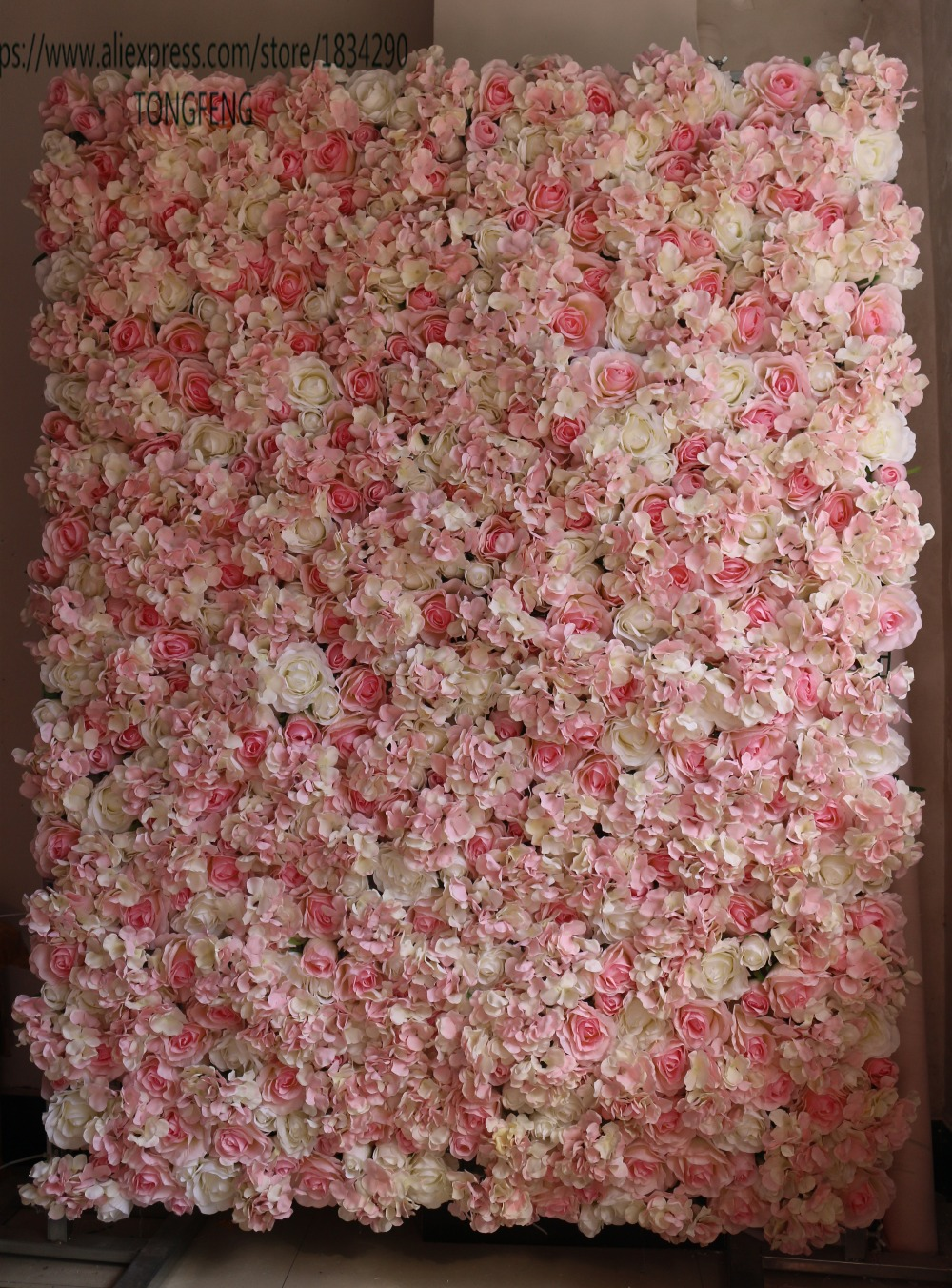 TONGFENG Artificial flower wall silk rose and hydrangea wedding background decoration Table centerpiece flower 10pcs lot