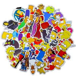 Image 4 - 50 قطعة/وحدة ملصقات جرافيتي برسومات كارتون أنيمي ظريفة لسيارة موتو وحقيبة كمبيوتر محمول رائع ملصقات لوح التزلج للأطفال