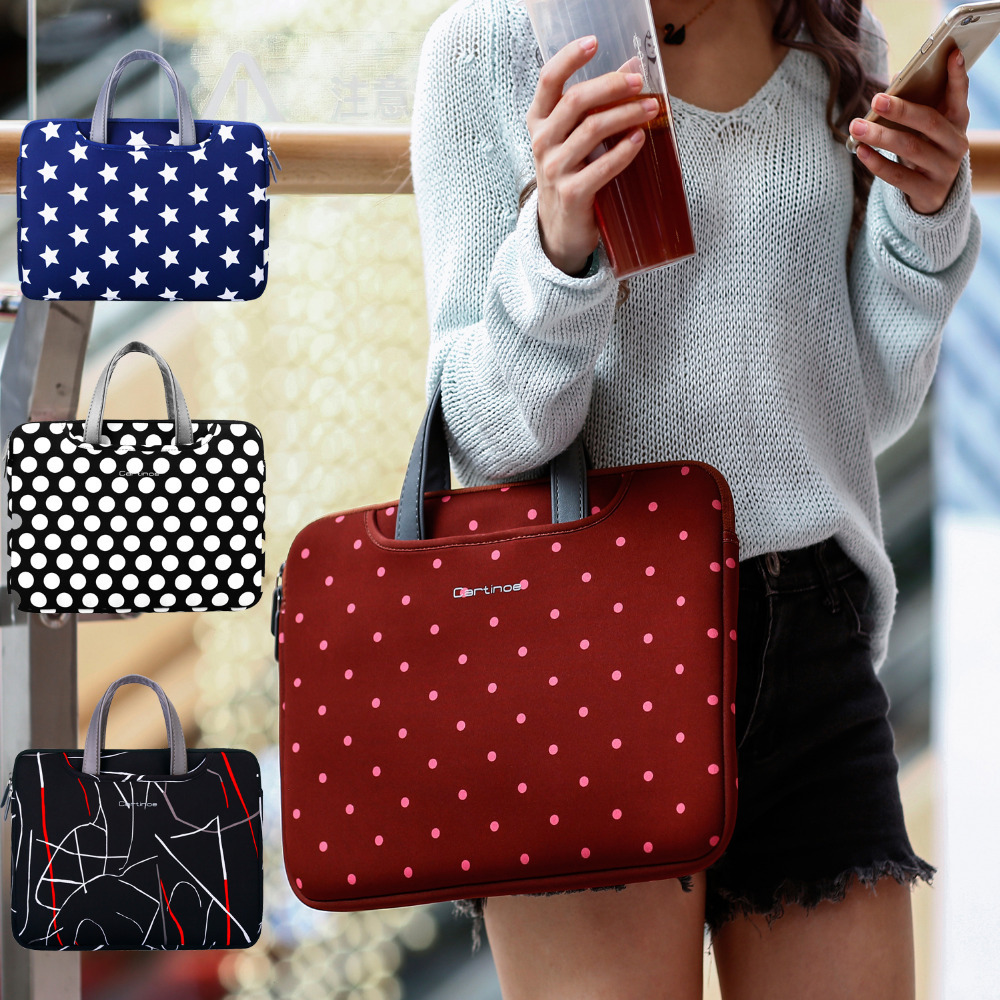 Cartinoe Fashion Women Laptop Sleeve Bag 13.3 Ladies HandBag Briefcase Carrying Case Cover for Apple Macbook Air/ Pro 13 inch