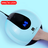 80W UV LED Lamp For Nails Dryer 10s/30s/60s/120s Timer LCD Display Infrared Sensing 36 Leds UV Lamp Nail Dryer Manicure Tool