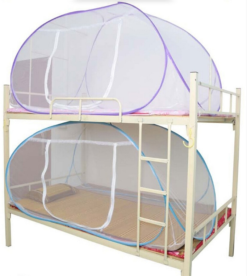 New Style Red Mosquito Net For Bed Pink Blue Purple Student Bunk Bed