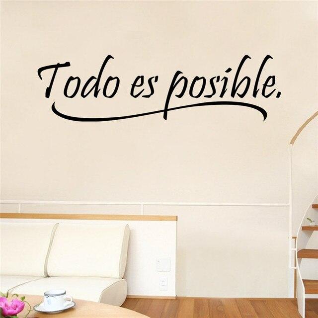 alles mogelijk is spaans inspirerende citaten spreuken muursticker voor kinderkamer slaapkamer muurstickers vinyl stickers poster