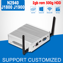 Mini PC Without Fan, J1900 N2930 With Power Adapter, DDR3 RAM 2G 128g SSD,Mini Computer Desktop Case, Game PC, Laptop Computer