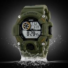 Skmei hombres de la marca s choque militar reloj LED Digital Watch 50 impermeable de múltiples funciones del estudiante del ejército relojes deportivos