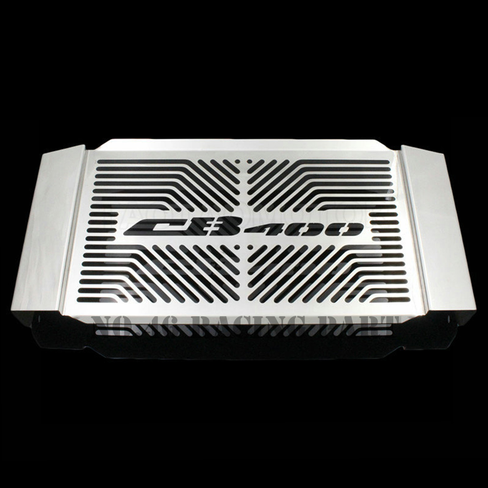 Silver Motorcycle Accessories Radiator Guard Protector Grille Grill Cover For HONDA CB 400 SF/400SF CB400SF 1999-2007/2008-2015 for honda hornet 600 hornet600 cb600 2003 2006 2004 2005 motorcycle accessories radiator grille guard cover fuel tank protection