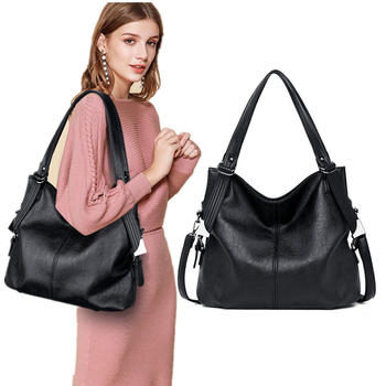 2019 New Fashion Women Leather Handbags Female Genuine Shoulder Crossbody Bag Ladies Large Bucket Tote Black Red