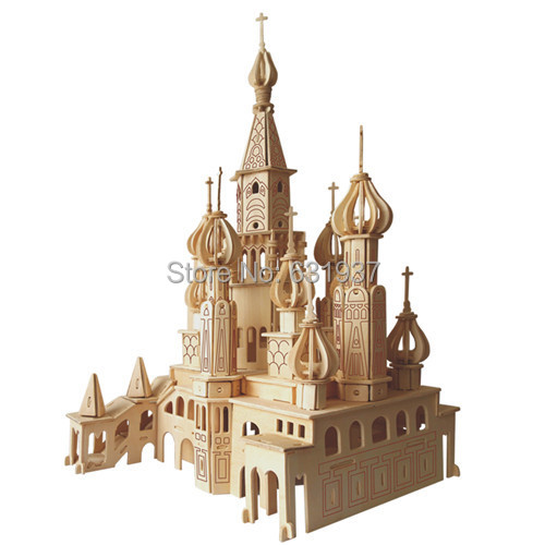 St . Petersburg 3D Puzzle  Model Building Kits Wooden Doll House Miniature Dollhouse Accessories For Children Toys Gift Free