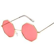 Mulheres da moda Óculos De Sol Pequeno quadro polígono Limpar lens Óculos  De Sol de Marca Homens do Desenhador do vintage Óculos. 304355e529