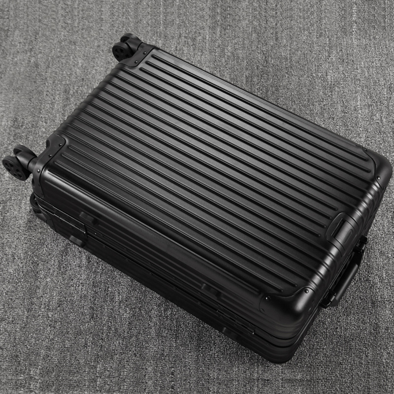 Women Travel Luggage Aluminum Suitcase Frosted Boarding Case Rolling luggage Case Spinner Trolley Suitcase Wheeled vintage suitcase 20 26 pu leather travel suitcase scratch resistant rolling luggage bags suitcase with tsa lock