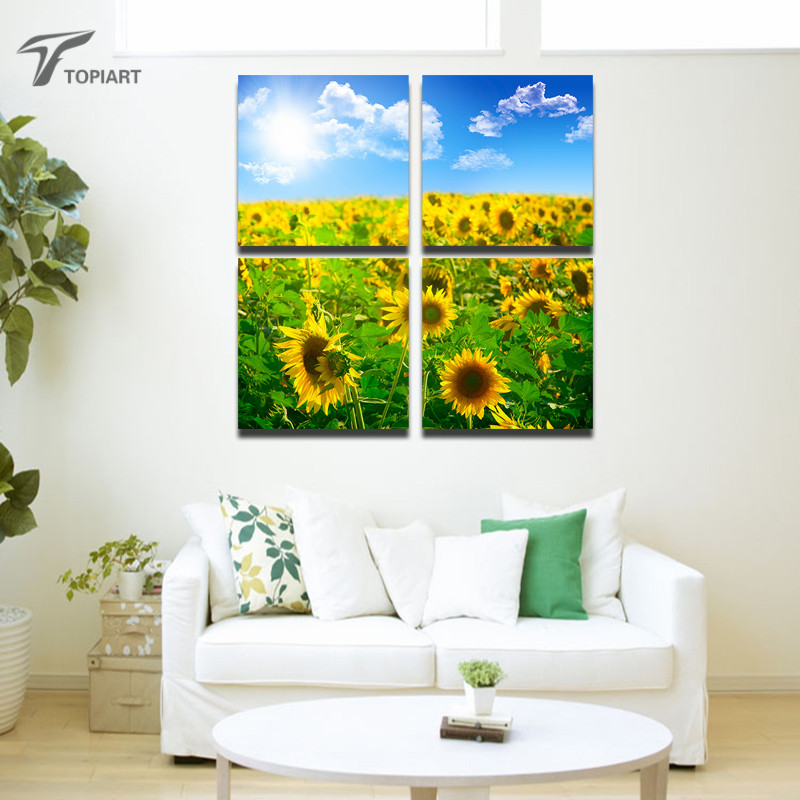 Sunflower Wall Art online get cheap large sunflower wall art -aliexpress