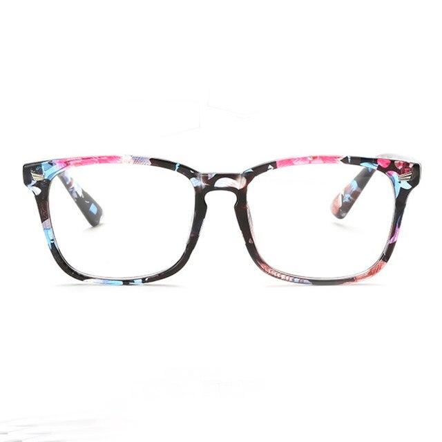 Tienda Online 9 color caliente miopía óptica gafas claro lente gafas ...