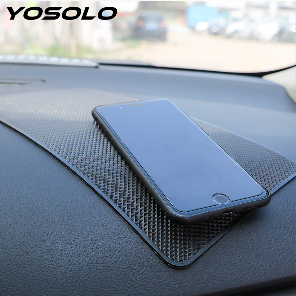 YOSOLO Dashboard Non Slip <font><b>Mat</b></font> Car Ornament Silicone Anti-Slip <font><b>Mat</b></font> For <font><b>Phone</b></font> Coin Sunglass Holder Accessories Storage Pad