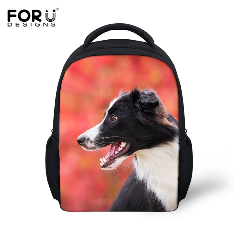 FORUDESIGNS Cute Greyhound Dog Print Children School Bags Small Shoulder Backpacks for Kids Girls Boys Mochila Escolar Bagpacks patchwork school bags for girls or boys children backpacks cute carton shoulder fashion school backpacks birds pattern bb0109