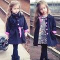Niñas niño Niños Bebé de Invierno ropa de Abrigo Trinchera Abrigo prendas de Vestir Exteriores de la Chaqueta Ropa 2-7 Años 2016 nuevo estilo lindo