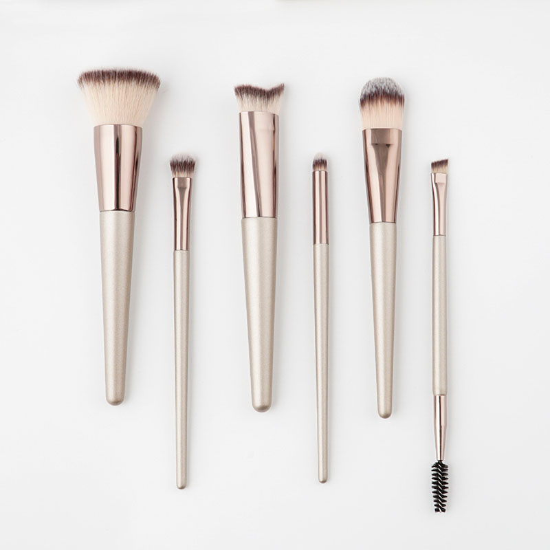 New 6pcs champagne gold makeup brushes sets Professional Foundation Eye Shadow Brush Cosmetic make up brushes makeup maquiagem ducare new 15 pcs makeup brushes set professional foundation eye shadow brush high quality cosmetic make up brush kit