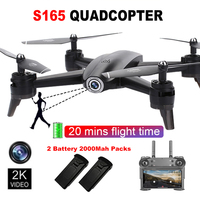 2K Camera Drone RC Airplanes 3D Quadcopter Headless 2.4GHz FPV Gesture Photo Optical Flow Positioning With Extra Battery