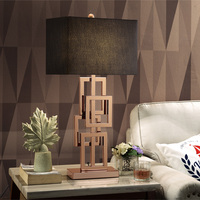 Modern Table Lamp With Fabric Lampshade LED Lamparas de mesa Golden Metal Desk Light E27 Hotel Lighting Deco Luminaria de mesa