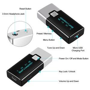 Image 3 - Mini Radio Digital portátil DAB + receptor de bolsillo, con auriculares, pantalla LCD, batería recargable, P10