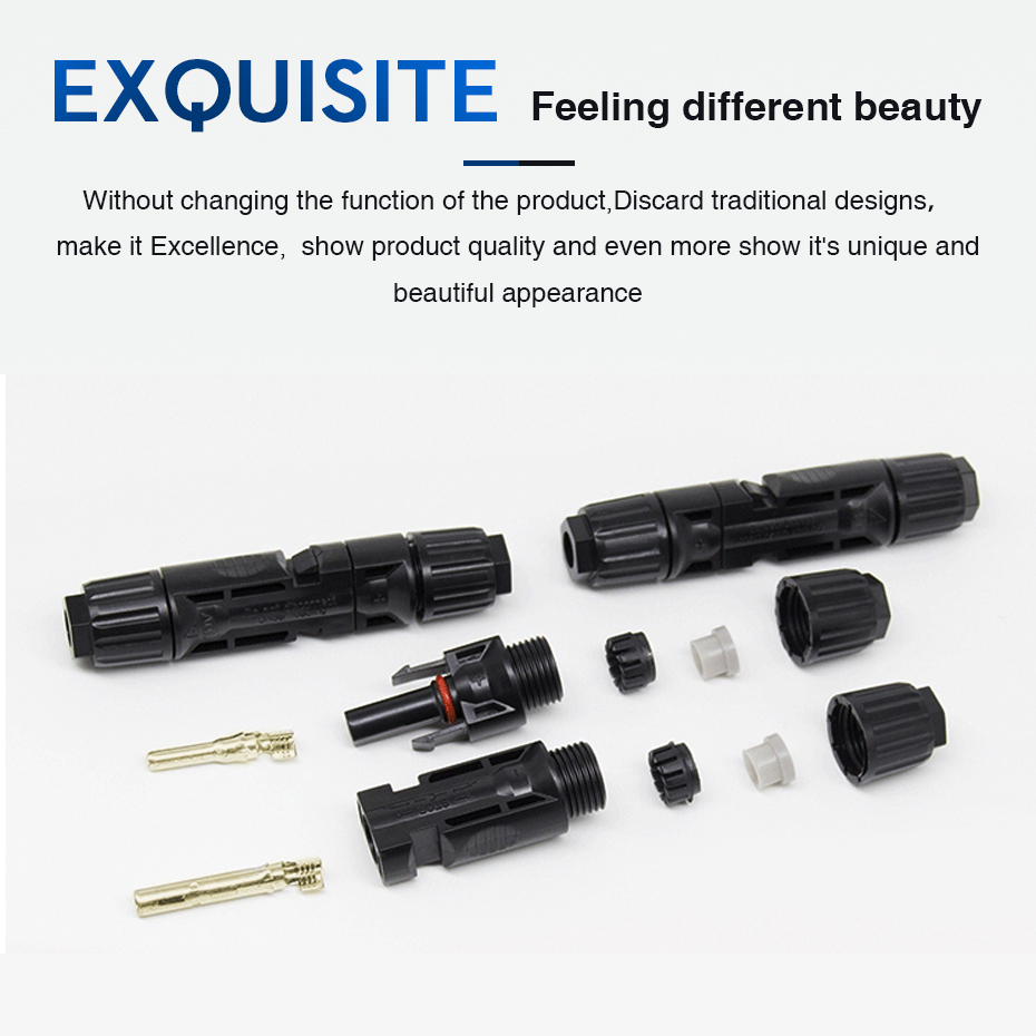 EASUN POWER 10 Pairs X MC4 Connector Male Female Solar Connector MC4 Solar Panel Branch Series Connect For Solar Power System_13