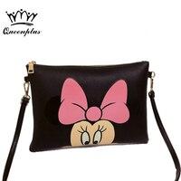 Women Hello Kitty Messenger Bag Minnie Mickey Bag Leather Handbags Ladies Cartoon Clutch Bag Bolsa Feminina