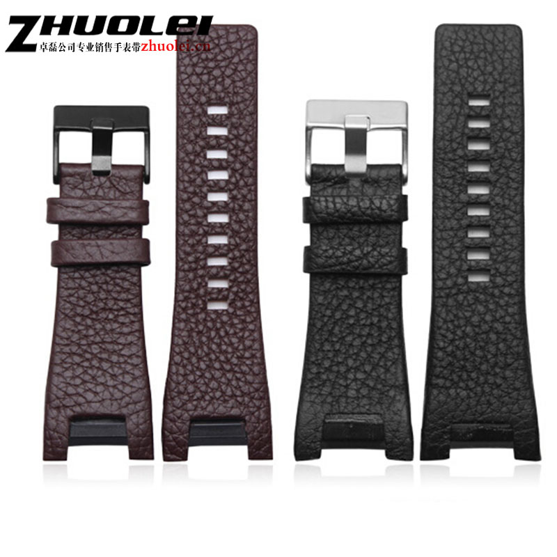 32*17mm braun aus echtem leder mit edelstahl schließe armband strap Gewidmet männer fit Diesel DZ4246 DZ1273b armband