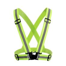 ZK30 высокая видимость унисекс Открытый светоотражающий эластичность безопасности жилет Прямая поставка подходит для бега Велоспорт Спорт Одежда на открытом воздухе
