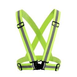 ZK30 Hohe Sichtbarkeit Unisex Außen Reflektierende Elastizität Sicherheit Weste Dropshipping Fit Für Laufen Radfahren Sport Im Freien Kleidung