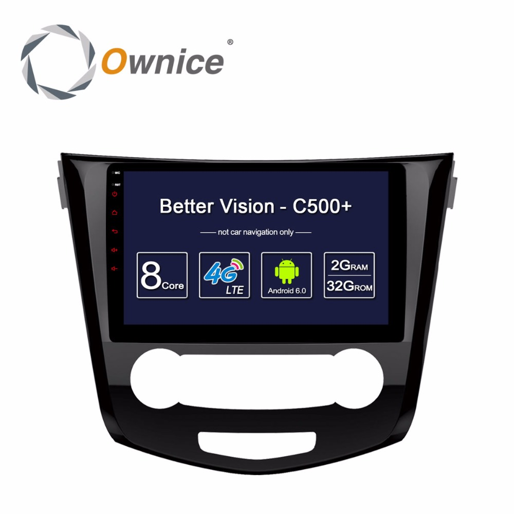 1024*600 Ownice C500+Android Car dvd gps Radio Multimedia Video Player for Nissan Qashqai X-Trail 2016 with ROM DAB+ DVR Audio special dvr without battery for ownice c500 car dvd and the dvd manufacture date must after 10th of april 2017 included 10th