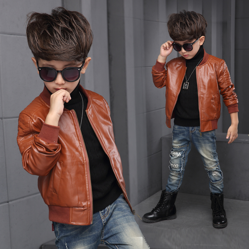 Aliexpress Buy New Baby Boy Leather Jacket Boys Coat Black And Brown Color Children Jackets Manteau Garcon Kids From Reliable