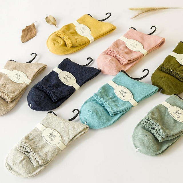 bfb5907c US $6.99 |Lot of 5 Pairs Solid Color Cotton Women's Casual Bubble Hole Crew  Socks Five Color Set-in Socks from Underwear & Sleepwears on ...
