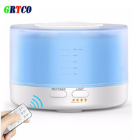 GRTCO Remote Control Essential Oil Diffuser 500ml Ultrasonic Aroma Cool Mist Humidifier With 7 Color Light