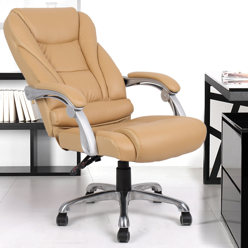 Ergonomic Office Chair Rotatable Swivel Computer Chair Lifting Adjustable Lying Executive Chair sedie ufficio (Without footrest) the silver chair
