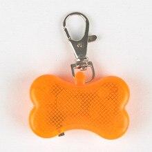 Pet Dog Blinking Pendant Collar Buckle Bone Shaped LED Flashing Night Light pet product