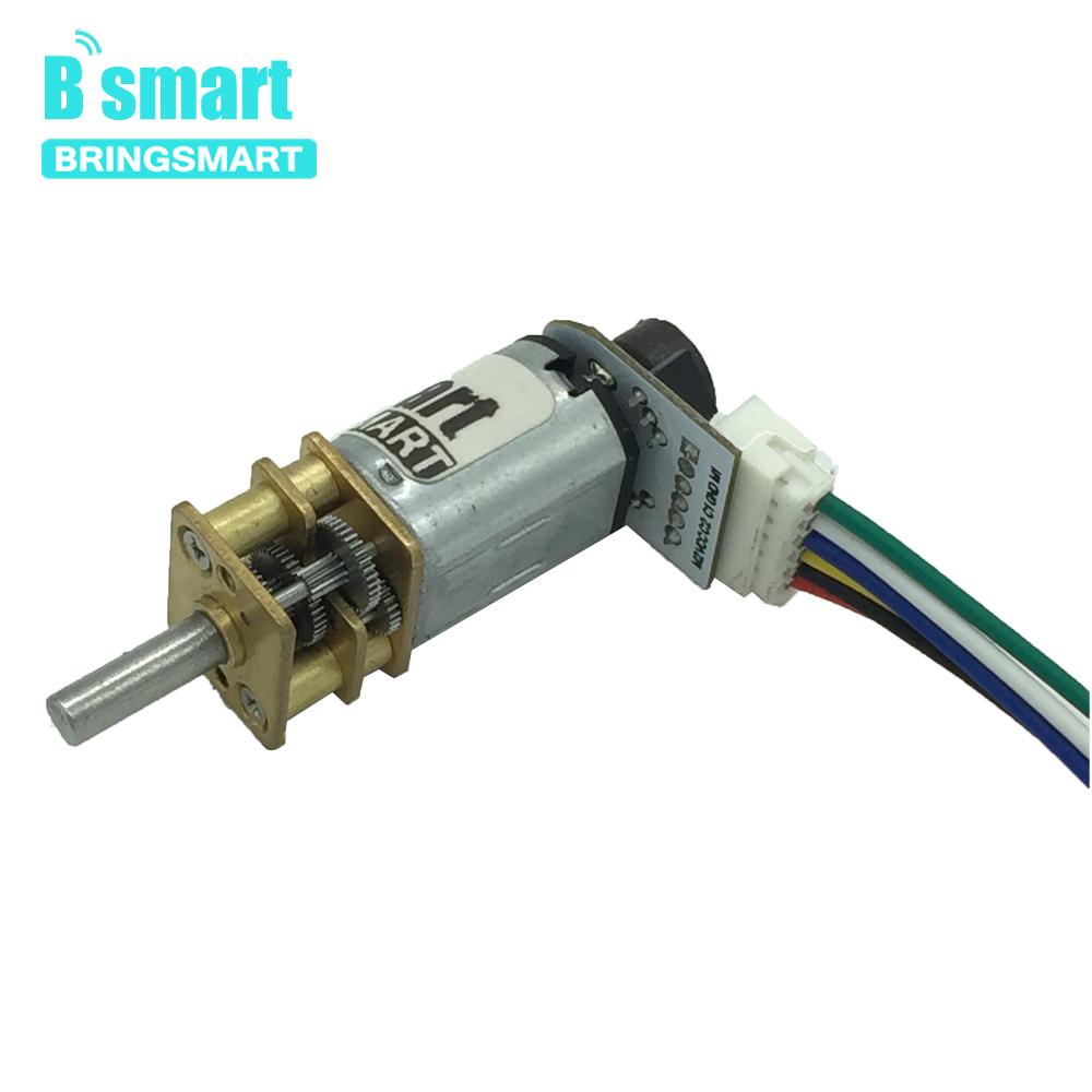3V Micro DC Gear Small Motor <font><b>N20</b></font> With <font><b>Encoder</b></font> 6V Adjustable Speed Reversible For Monitoring Equipment Robot Mini Electric Motor image