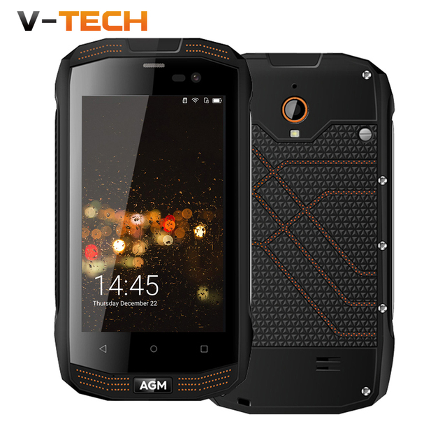 Original AGM A2 Rio 4.0 4G LTE IP68 Waterproof Mobile Phone Android 5.1 Qualcomm MSM8909 Quad Core 2G+16G SOS NFC Smartphone