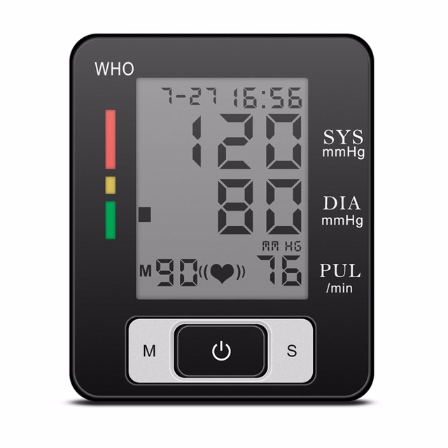 Digital Wrist Blood Pressure Monitor Meter Sphygmomanometer Wriatband New Hot Selling
