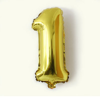 32 Inches Gold Silver Number Foil Balloons Digit Air Ballons Birthday Party Wedding Decor Air Baloons