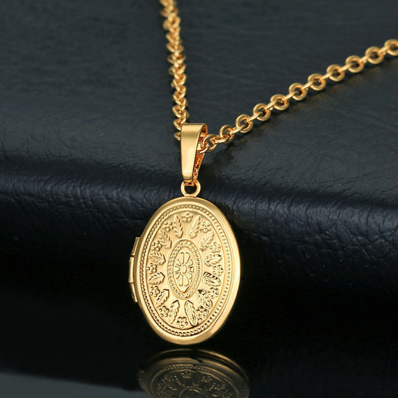 dogeared charm gold in design locket power women chain necklace lockets item fashion floating new necklaces from statement pendants simple plated for