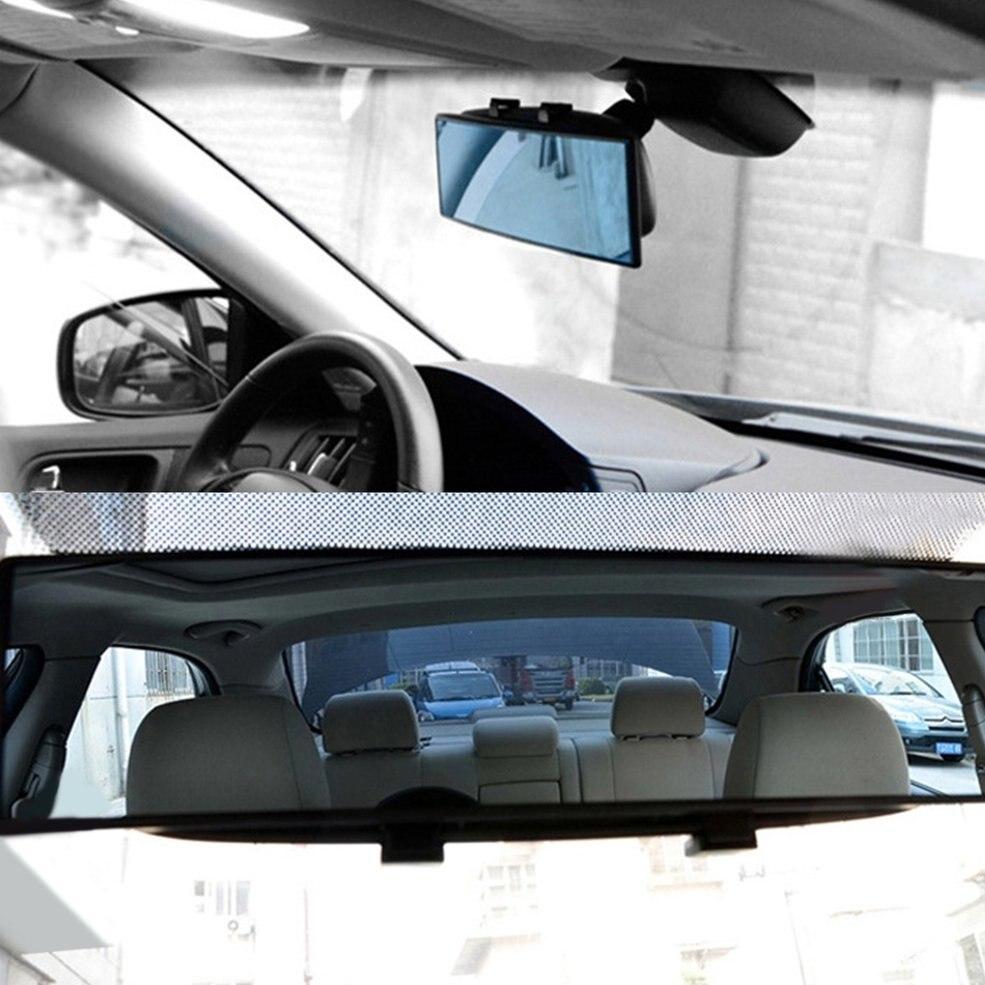 유니버셜 300mm 자동차 리어 미러 광각 백미러 자동 와이드 볼록 커브 내부 클립 후면보기 미러