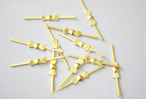 Image 3 - 1000pcs/Lot, 33mm Bowtie Connector Pin, Gold / Silver, Metal Butterfly Buckles, Clips, Chandelier Parts, Lamp Parts Accessories